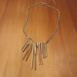 Jewelry - Textured Metal Post Gold Necklace